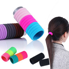 10pcs High Quality Candy Color Elastic Rope Ring Hairband Women Head Hair Band Ponytail Holder Headbands Ornament Accessories