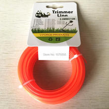 Grass Trimmer Line 2.0mm Diameter 15M round for Brush Cutter Power Nylon Line Grass Cutting(China)