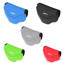 Original Neopine Camera Soft Bag for Fujifilm X30 Neoprene Shockproof Case Pouch with Hanging Hook Black Grey Blue Red Green