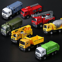 Classic Children's toy car alloy Sound and light Engineering vehicles rubbish truck Tipper truck mixer hot sale(China)