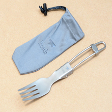 Outdoor Tableware Fork Camping Cutlery Portable Folding Pure Titanium Fork Ultralight 13.8g Keith KT306