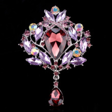 Beautiful Multi Color Large Size Crystal Drop Pendant Brooches in assorted colors for Women Wedding
