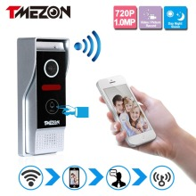 Tmezon Phone Control Wireless Wifi Video Door Phone Intercom 720P HD 1.0MP Outdoor Camera IP Doorphone Doorbell System P2P