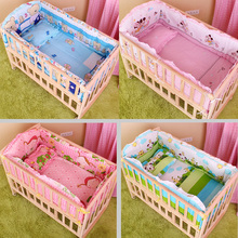 5PCS set baby crib bedding set cartoon baby bedding set newborn baby bed set crib bumper baby bed bumper 100x58cm CP01(China)