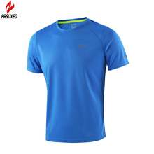 ARSUXEO 2016 Summer Men's Running T Shirts  Active Short Sleeves Quick Dry Training Jersey Sports Clothing T1602