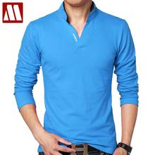 Hot Sale New 2017 Fashion Brand Men polo shirt Solid Color Long-Sleeve Slim Fit Shirt Men Cotton polo Shirts Casual Shirts 5XL
