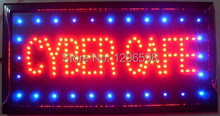 2017 Special Offer Hot Sale Graphics 15mm semi-outdoor 10X19 Inch CYBER CAFE Business Shop Ultra Bright Led sign(China)