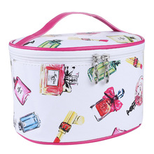 New PVC Printing Cute Cosmetic Bag Beauty Box Organizer Makeup Bag Travel Organizador Neceser Trousse Maquillage Femme zb-021