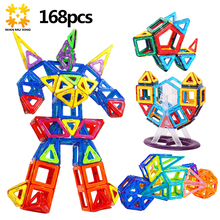 168PCS Mini Magnetic Blocks Educational Construction Set Robot & Car-styling Toy ABS Magnet Designer Kids Gift(China)