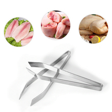 1Pc Stainless Steel Fish Bone Remover Pincer Puller Fishbone Tongs Tweezers Practice Skin Removal Pliers Seafood Tools
