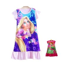 Top New Summer Kids Anna Party Princess Dress Girl Clothes Nightgown, Elsa Cinderella Dress Vintage Baby Dresses Clothing