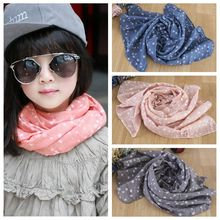 Star Breathable Cloth Children's Scarf For Girls Bib Cotton Scarf Kids Spring Autumn Travel Scarf Warm Shawl Children's Fabric(China)