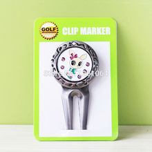 2017 New Brand Free Shipping Metal Golf Divot Tool W Golf Ball Mark Lovely Rabbit(China)