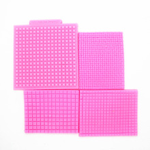 New!Fondant silicone clay mold small grid texture mat