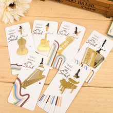 Cute Kawaii Metal Book Markers Marque Page Vintage Paper Bookmark For Books Korean Stationery School Supplies Free shipping 822