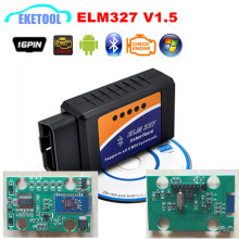 ELM327 V1.5 Supports More Cars 100% Hardware V1.5 ELM 327 Bluetooth 1.5 Car OBD2 Diagnostic Code Reader Works Android Torque/PC