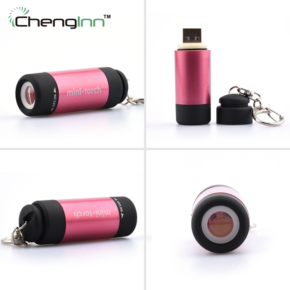 2017 160 New Self Defense Mini Usb Cree Flashlight Torch Keychain Light Waterproof Torchlight Pocket Single File Free Shipping(China (Mainland))