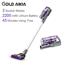 Gold Aikia Cyclone Vacuum Wireless Cleaner for Car Low Noise home use Efficient Brush Powerful Suction Vacuum Cleaners VC168(China)