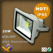 Factory Sale 20W LED Flood light Outdoor Black Floodlight Cool|Warm White 85V-265V Advertising lamp IP 65 3 year Warranty(China)