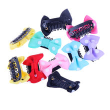 Random Color!! 10PC Wholesale Bowknot Dots Child Baby Girls Kids Infant Baby Girl Hairpins Hair Bow Clips Barrette Accessories