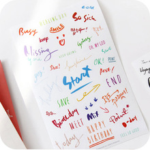 8 Sheet/lot Creative Letter PVC Sticker for DIY Scrapbooking Diary Phone Sticker Products Design Paster Kawaii Stationary