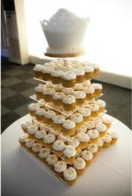 Exquisite clear acrylic cake tower/6 Tier Square Cupcake Stands for wedding party using wedding decoration