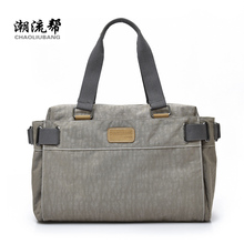 Women's shoulder bag oxford fabric handbag large capacity solid color casual all-match travel bag luggage fashion preppy