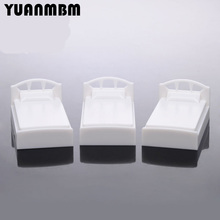 4pcs DIY sand table model material/1:50 single bed model/miniature furniture/technology model parts/DIY toy accessories(China)