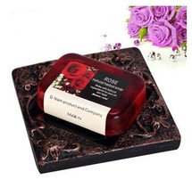 2015 new Rose Soap Handmade Natural Essential Oils Soap Herbal Soap Thailand 110 G,Whitening & Nourishing(China)