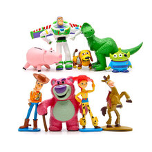 9 unids lote juguete Cosplay Toy Story 3 Sheriff Woody Buzz Lightyear Jessie  Hamm Rex Slinky perro PVC figura de acción modelo m. 7618058d9da