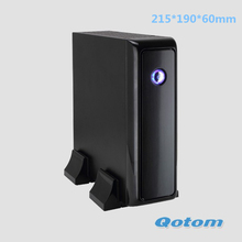 Dual lan mini pc Qotom-T30S  Celeron 1037U ,1.8GHz,Two RJ-45 LAN ports support windows xp / windows7 / 8/linux ubuntu desktop pc