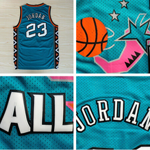 Wholesale #23 Jordan 1996 All Star Jersey,Green Game Throwback Basketball Jerseys Shirt Uniform