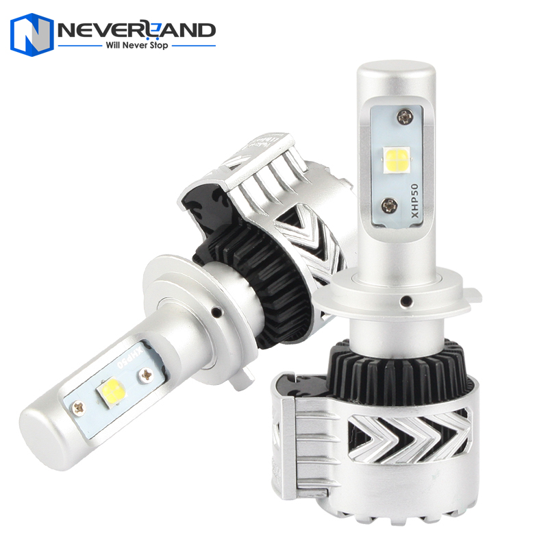 2pcs/set H7 72W 12000LM 6500K with CREE LED Chips Car Headlight Conversion Kit Fog Lamp Bulb DRL Super White <br><br>Aliexpress