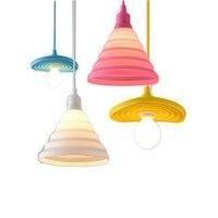 moderne color silicone pendentif lumire colore diy pendentif lampe chambre lampe suspendue restaurant accueil luminaires lamparas - Lumire Colore