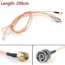 Sale 200cm Cable BNC Male Plug To SMA Male Straight Crimp RG316 6ft Jumper Pigtail FPV High Quality Mini Jackplug Wire Connector