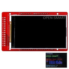 "OPEN-SMART 3.0"" inch TFT LCD Display Shield with temperature sensor onboard for Arduino / Mega2560 / Leonardo(China)"