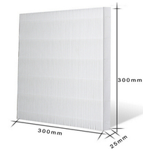 air purifier parts hepa filter 2.5PM high efficient rate 99.9% 300X300X25mm