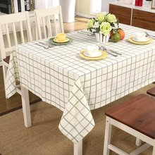 Pastoralism Thick  Plaid Table Cloth Home Use Plain Table Cloth More Size White Tablecloth