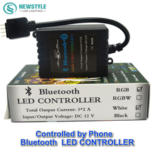 DC12V Bluetooth LED RGB Controller,music,time,Wireless IOS/Android Bluetooth 4.0 Controller for 5050/3528 RGB  led strip