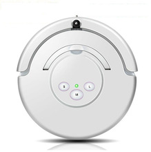 Automatic Robotic Vacuum Cleaner With LCD Screen , Two Rolling Brushes and big suction intelligent for home sweep the floor