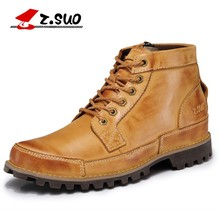 2017 Cowboy Boots High Quality Ankle Boots for Men Best Boots Genuine Leather Shoes Fashion flat boots 2 Color Free Shipping