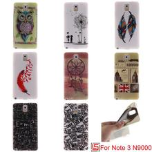 New Cheap Beautiful Ultra Thin TPU Silicone Soft Phone Mobile Cell Case Cover Bag For Samsung Galaxy Galaxi Note 3 Feather Lion