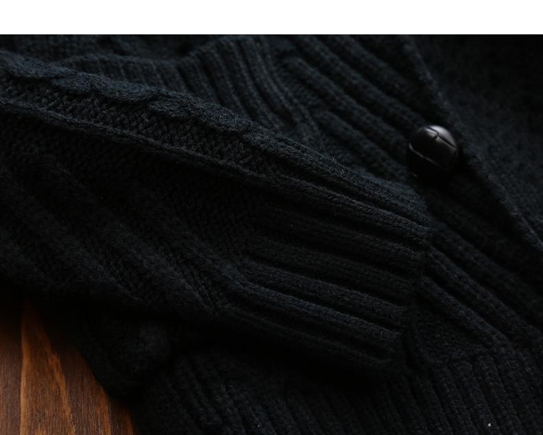 Winter Men Cardigan Coat Thicken Loose Fit Warm Turtleneck Sweater Men Autumn Knited Male Sweatercoat Black Brand Muls M-4XL-11
