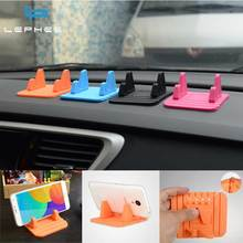 LEPHEE Car Phone Holder Silicone Anti Slip Mat Desk Mobile Phone Stand Mounts Car-styling Bracket For iPhone 7 Plus GPS Xiaomi