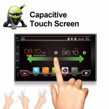 Double 2 Din Capacitive Android 4.4 GPS Nav Car Stereo No-DVD Player Auto Audio PC Car Head Unit TV In Dash Radio Media camera
