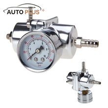 Car Adjustable Professional 140PSI Fuel Pressure Gauge Regulator Adapter with Gauge Silver New Arrival Car Tool Accessories