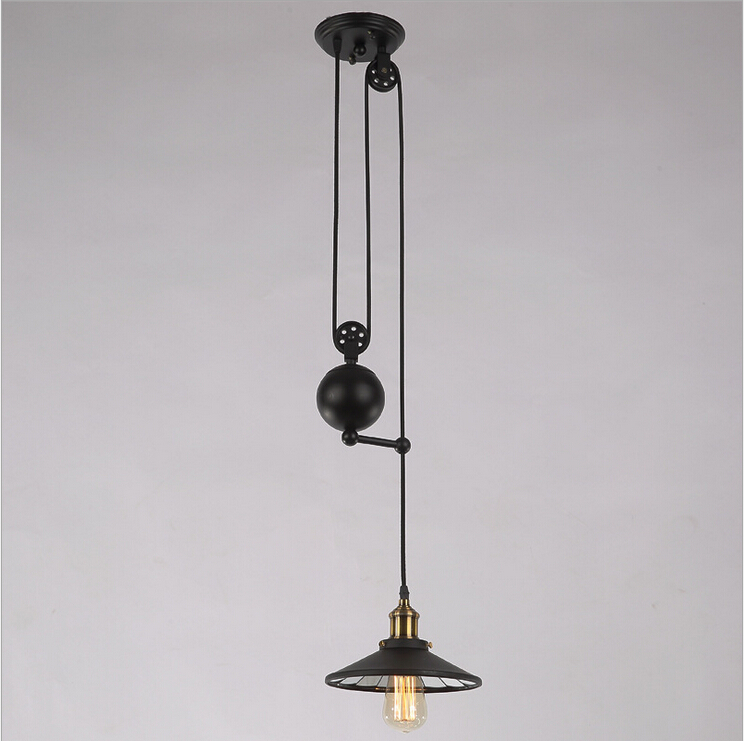 American Village restaurant designer personality minimalist Nordic Industrial style antique chandelier lift lamp light lighting<br><br>Aliexpress