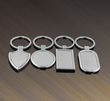 FREE shipping by FEDEX 100pcs/lot 4 Designs Newest Metal Blank Keychains Advertising Custom LOGO Keyrings for Promotional Gifts