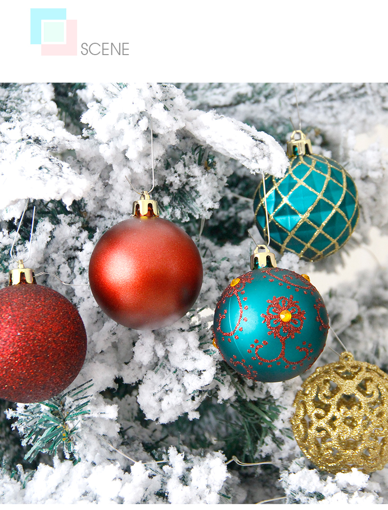07 inhoo 6cm Christmas tree decorations Balls Ornaments Pendant 20pcs Red green white gold Ball Accessories For Home Xmas Party Hot
