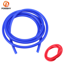 POSSBAY Universal 2M 3mm/4mm/6mm/7mm Silicone Vacuum Tube Hose Silicone Tubing Pipe Blue Red Car Accessories(China)